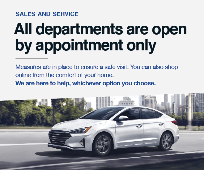All departments are open by appointment only