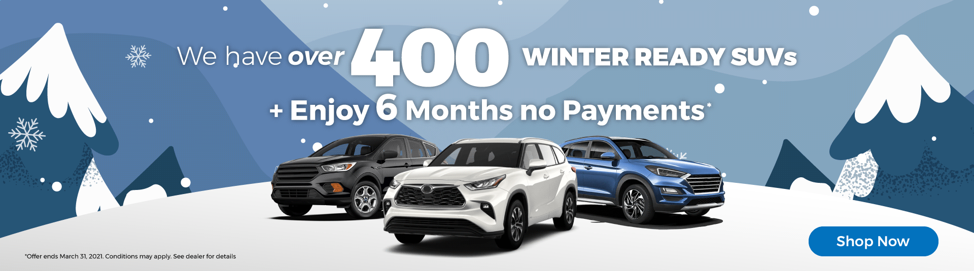 Winter ready SUVs Used Car Dealership Mississauga